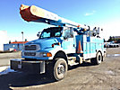 Altec AM55, Over-Center Material Handling Bucket Truck rear mounted on 2008 Sterling Acterra 4x4 Service Truck