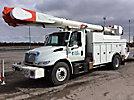 Altec AM55-MH, Material Handling Bucket Truck, center mounted on, 2004 International 4400 Utility Truck