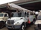 Altec AM55-MH, Over-Center Material Handling Bucket Truck, center mounted on, 2003 International 4400 Utility Truck