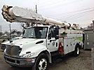 Altec AM55-MH, Over-Center Material Handling Bucket Truck, center mounted on, 2005 International 4400 Utility Truck