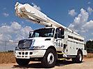 Altec AM55-MH, Over-Center Material Handling Bucket Truck rear mounted on 2003 International 4300 Utility Truck