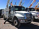 Altec AM55-MH, Over-Center Material Handling Bucket Truck rear mounted on 2004 International 4400 Utility Truck