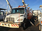 Altec AM55-MH, Over-Center Material Handling Bucket Truck rear mounted on 2006 Freightliner M2 106 4x4 Utility Truck