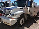 Altec AM55-MH, Over-Center Material Handling Bucket Truck rear mounted on 2006 International 4400 Utility Truck
