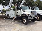 Altec AM55-MH, Over-Center Material Handling Bucket Truck rear mounted on 2008 International 7300 4x4 Utility Truck