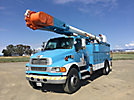 Altec AM55-MH, Over-Center Material Handling Bucket Truck rear mounted on 2008 Sterling Acterra Utility Truck