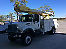 Altec AM550-MH, Over-Center Material Handling Bucket Truck, rear mounted on, 2003 International 7300 4x4 Utility Truck