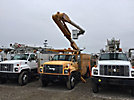 Altec AM550H, Material Handling Bucket Truck rear mounted on 1998 GMC C7500 Utility Truck