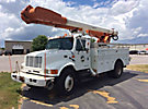 Altec AM600-MH, Over-Center Material Handling Bucket Truck rear mounted on 1996 International 4900 Utility Truck