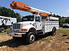 Altec AM600-MH, Over-Center Material Handling Bucket Truck rear mounted on 1997 International 4800 4x4 Utility Truck