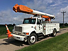 Altec AM600-MH, Over-Center Material Handling Bucket Truck rear mounted on 1997 International 4900 Utility Truck