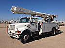 Altec AM650-MH, Over-Center Material Handling Bucket Truck, rear mounted on, 1999 International 4700 Utility Truck