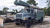 Altec AM650-MH, Over-Center Material Handling Bucket Truck, rear mounted on, 2000 International 4800 4x4 Utility Truck