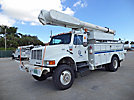 Altec AM650-MH, Over-Center Material Handling Bucket Truck, rear mounted on, 2001 International 4800 4x4 Utility Truck