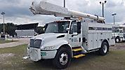 Altec AM650-MH, Over-Center Material Handling Bucket Truck, rear mounted on, 2003 International 4300 Utility Truck