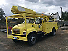 Altec AM650-MH, Over-Center Material Handling Bucket Truck rear mounted on 1999 GMC C8500 Utility Truck