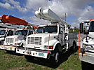 Altec AM650-MH, Over-Center Material Handling Bucket Truck rear mounted on 2001 International 4800 4x4 Utility Truck
