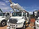 Altec AM650-MH, Over-Center Material Handling Bucket Truck rear mounted on 2003 International 4300 Utility Truck