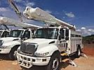 Altec AM650-MH, Over-Center Material Handling Bucket Truck rear mounted on 2004 International 4300 Utility Truck