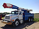 Altec AM652-MH, Over-Center Material Handling Bucket Truck, rear mounted on, 1999 International 4900 T/A Utility Truck