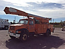 Altec AM855, Over-Center Material Handling Bucket Truck, rear mounted on, 1999 International 4700 Utility Truck