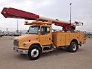 Altec AM855, Over-Center Material Handling Bucket Truck, rear mounted on, 2001 Freightliner FL80 Utility Truck