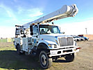 Altec AM855, Over-Center Material Handling Bucket Truck rear mounted on 2006 International 7300 4x4 Utility Truck