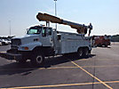 Altec AM855-E88, Over-Center Material Handling Elevator Bucket Truck, rear mounted on, 2001 Sterling LT8500 6x6 Utility Truck