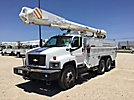 Altec AM855-MH, Material Handling Bucket Truck corner mounted on 2006 Chevrolet C8500 T/A Utility Truck