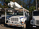 Altec AM855-MH, Over-Center Material Handling Bucket Truck, rear mounted on, 1998 International 4700 Utility Truck