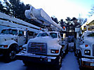 Altec AM855-MH, Over-Center Material Handling Bucket Truck, rear mounted on, 1999 Ford F800 Utility Truck