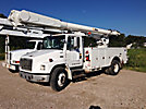 Altec AM855-MH, Over-Center Material Handling Bucket Truck, rear mounted on, 1999 Freightliner FL70 Utility Truck