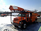 Altec AM855-MH, Over-Center Material Handling Bucket Truck, rear mounted on, 1999 International 4700 Utility Truck