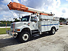 Altec AM855-MH, Over-Center Material Handling Bucket Truck, rear mounted on, 1999 International 4800 4x4 Utility Truck