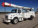 Altec AM855-MH, Over-Center Material Handling Bucket Truck, rear mounted on, 2000 Freightliner FL70 Utility Truck