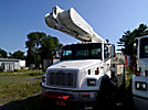 Altec AM855-MH, Over-Center Material Handling Bucket Truck, rear mounted on, 2001 Freightliner FL80 4x4 Utility Truck