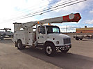 Altec AM855-MH, Over-Center Material Handling Bucket Truck, rear mounted on, 2001 Freightliner FL80 Utility Truck