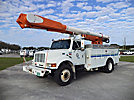 Altec AM855-MH, Over-Center Material Handling Bucket Truck, rear mounted on, 2001 International 4800 4x4 Utility Truck