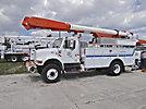Altec AM855-MH, Over-Center Material Handling Bucket Truck, rear mounted on, 2001 International 4800 4x4 Utility Truck