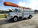 Altec AM855-MH, Over-Center Material Handling Bucket Truck, rear mounted on, 2001 International 4900 Utility Truck