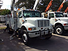 Altec AM855-MH, Over-Center Material Handling Bucket Truck, rear mounted on, 2002 International 4800 4x4 Utility Truck