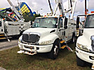 Altec AM855-MH, Over-Center Material Handling Bucket Truck, rear mounted on, 2003 International 4300 Utility Truck