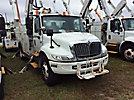 Altec AM855-MH, Over-Center Material Handling Bucket Truck, rear mounted on, 2003 International 4300 Utility Truck