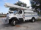 Altec AM855-MH, Over-Center Material Handling Bucket Truck, rear mounted on, 2004 International 7300 4x4 Utility Truck
