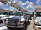Altec AM855-MH, Over-Center Material Handling Bucket Truck, rear mounted on, 2005 Ford F750 Utility Truck