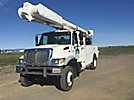 Altec AM855-MH, Over-Center Material Handling Bucket Truck, rear mounted on, 2007 International 7300 4x4 Utility Truck