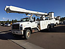 Altec AM855-MH, Over-Center Material Handling Bucket Truck rear mounted on 1993 GMC Topkick Utility Truck