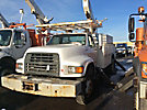 Altec AM855-MH, Over-Center Material Handling Bucket Truck rear mounted on 1999 Ford F800 Utility Truck
