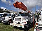 Altec AM855-MH, Over-Center Material Handling Bucket Truck rear mounted on 1999 International 4900 Utility Truck