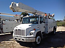 Altec AM855-MH, Over-Center Material Handling Bucket Truck rear mounted on 2001 Freightliner FL70 Utility Truck